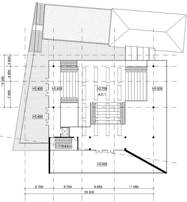 План входного павильона на
