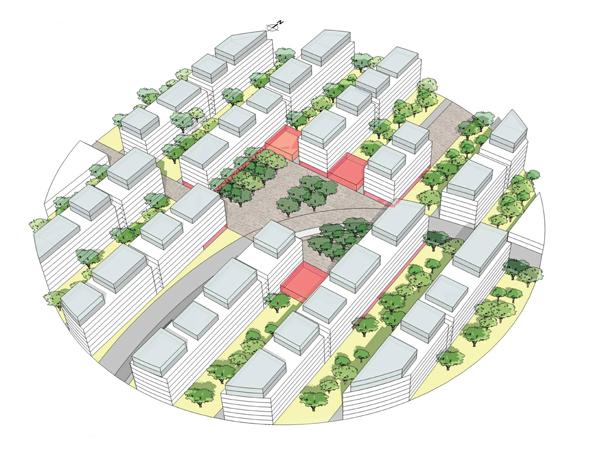 На схеме выделен квартал № 1