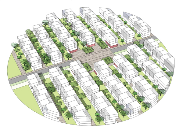Пример застройки квартала